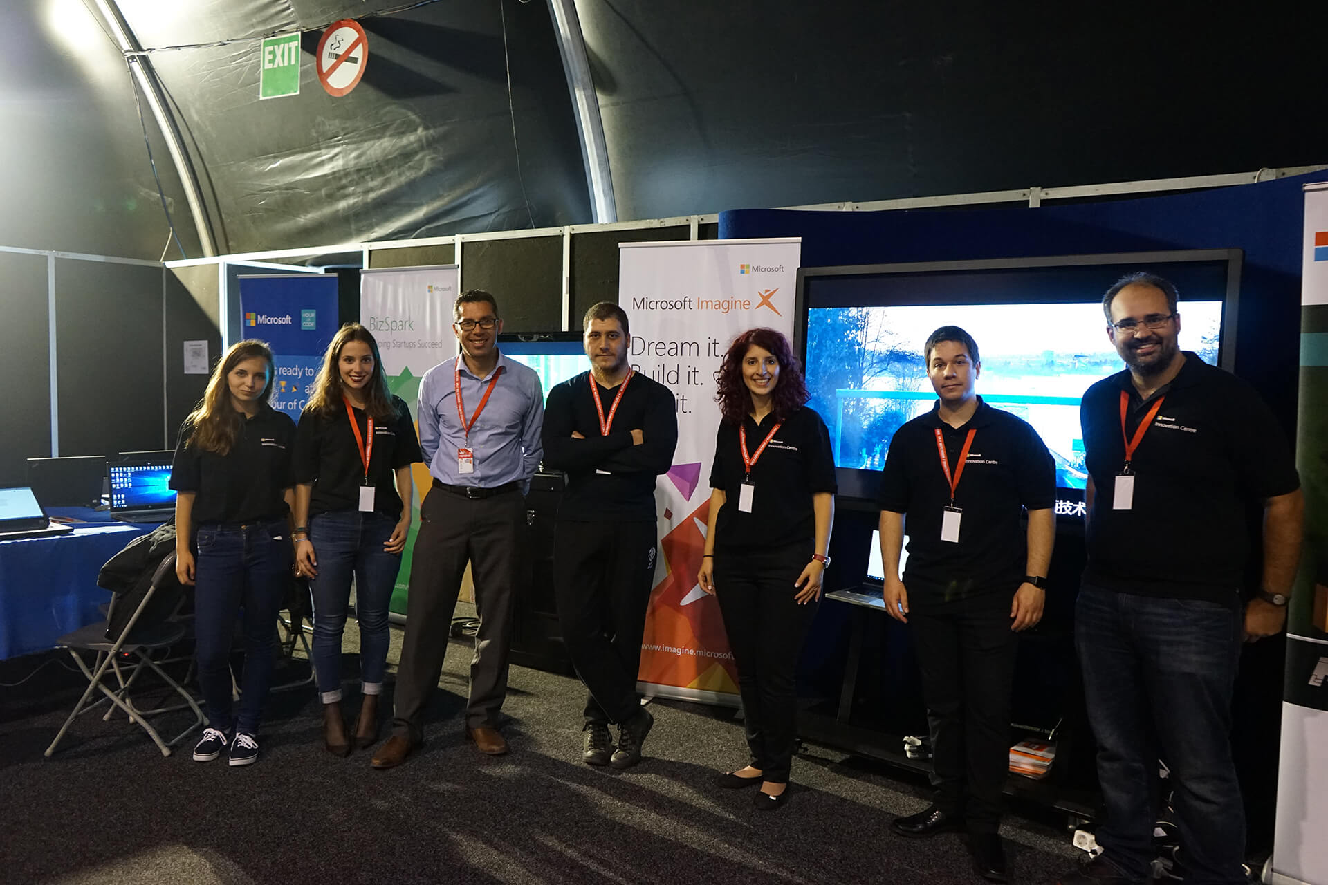 LightBuzz and Microsoft teams at Malta Robotics Olympiad