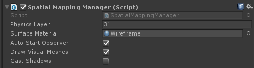Spatial Mapping Component - Unity3D