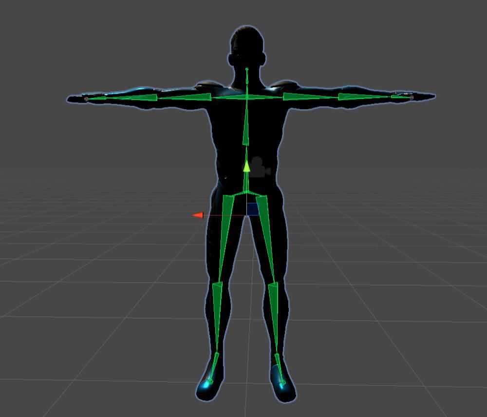 Azure Kinect 3D model skeleton