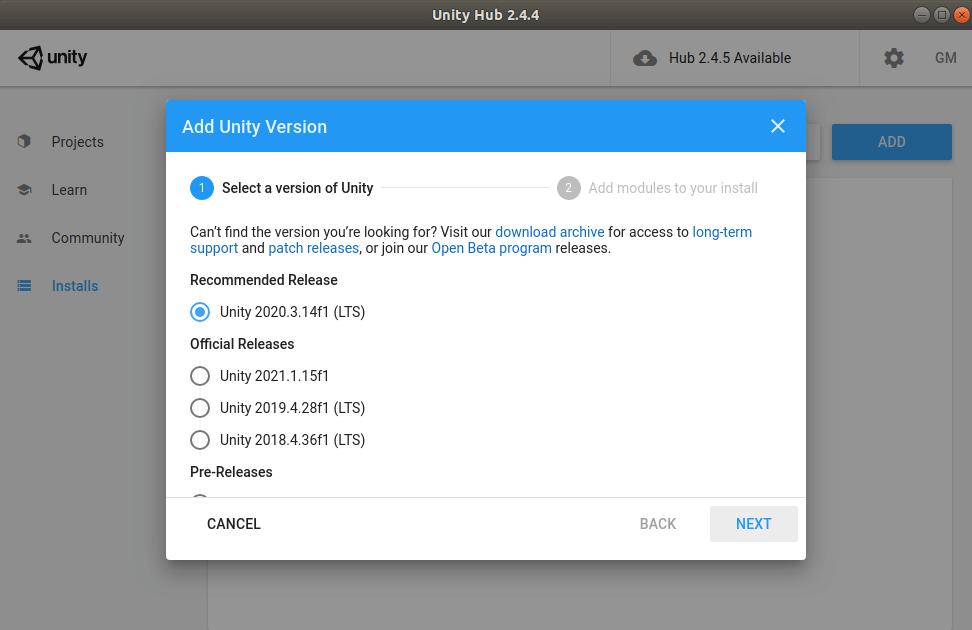 Unity3D for Ubuntu - LTS installation